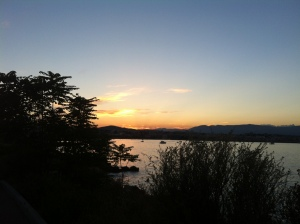 Sunset coming back from 6km run Cap d'Antibes