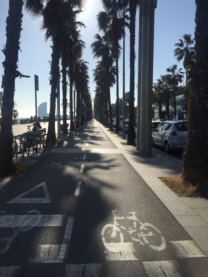 Bike path passieg maritime Barcelona