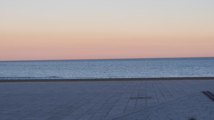 Reverse sunset Barceloneta 10.2.15