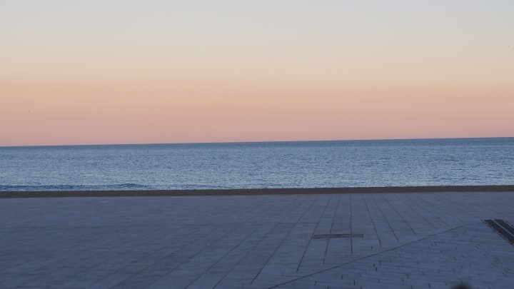 Reverse sunset Barceloneta 10.2.15