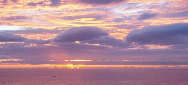 Sunrise over the med