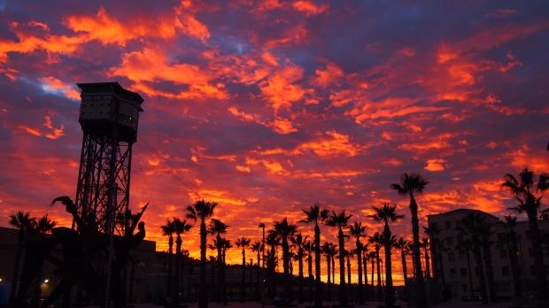 December 2014 Sunset Barceloneta