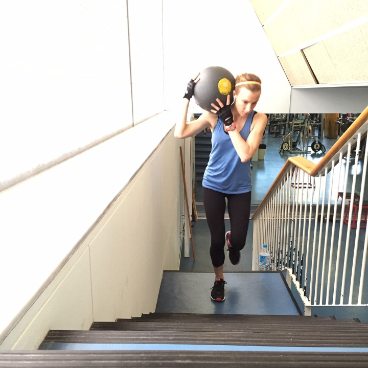Medicine Ball Stair Runs