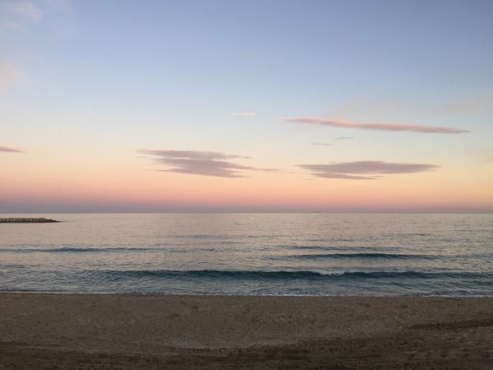 Reverse sunset Barcelona
