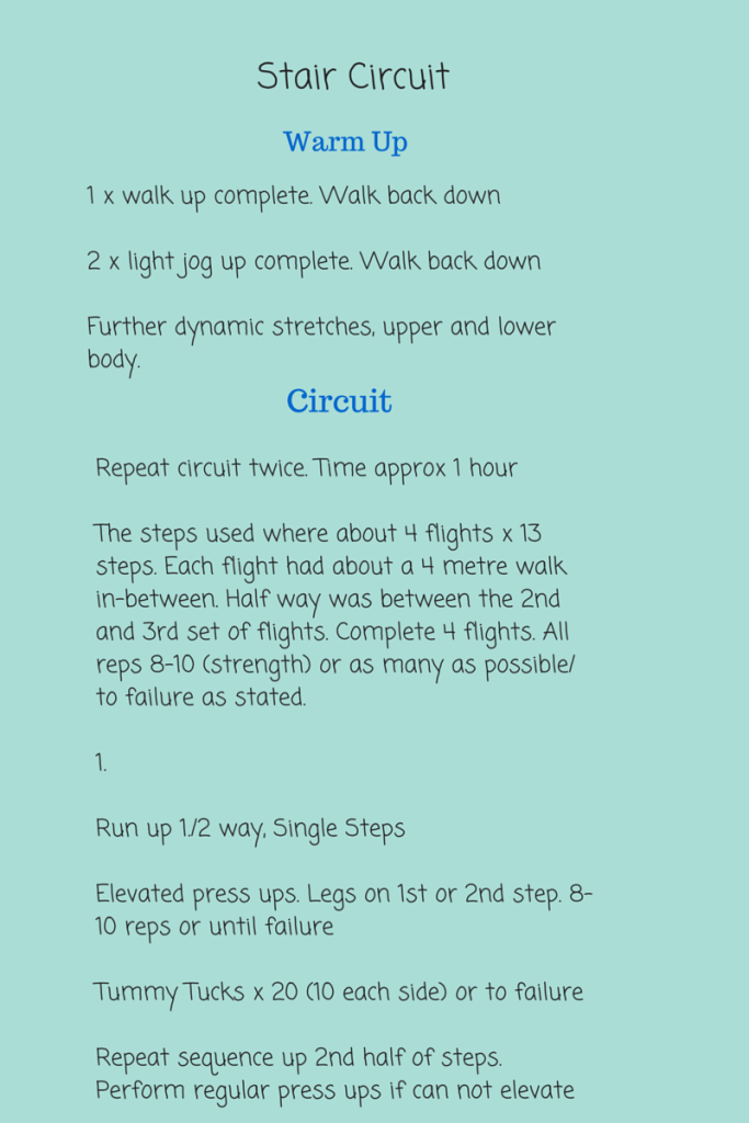 June 2015 Stair Workout