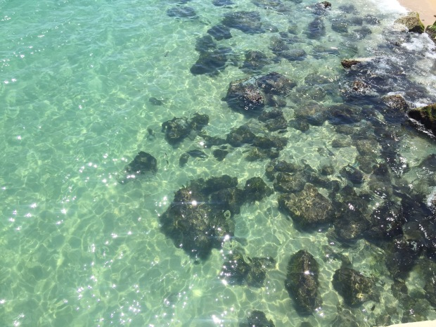 Water off Badalona Pier