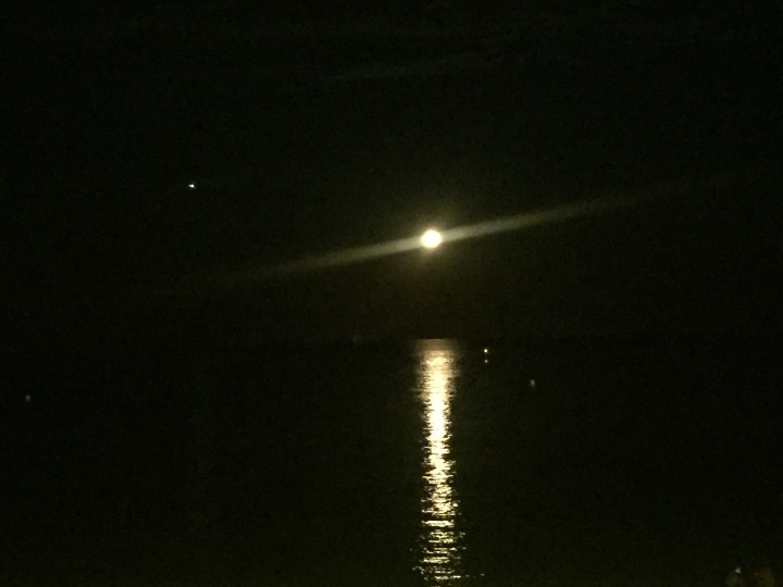 Full moon over med sea
