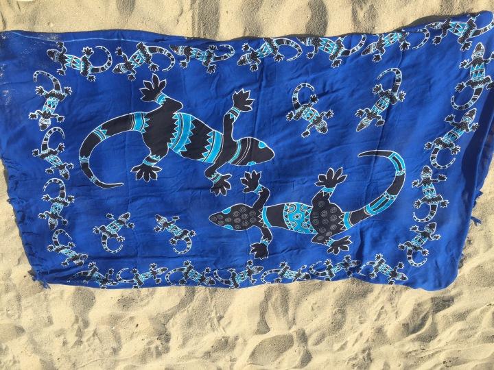 Lizard Beach Towel, Sarong