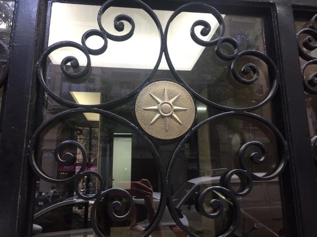 Glass Door Iron Work