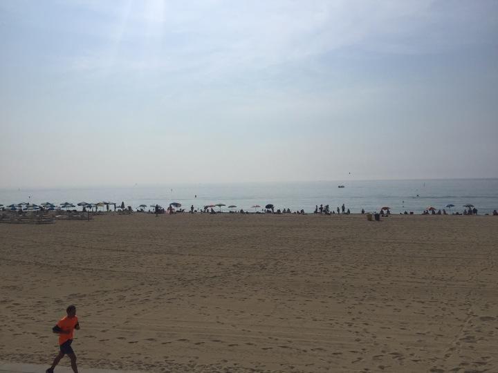 Playa Bogatell, July