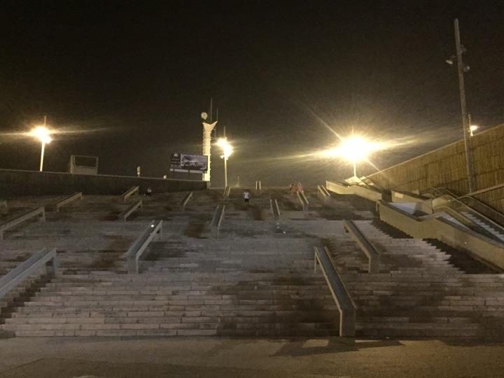 Steps, night run
