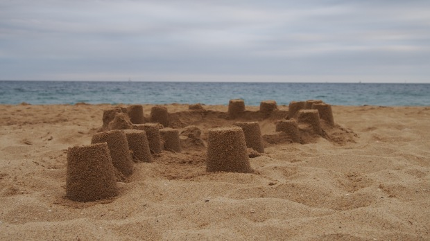 Abandoned sandcastles