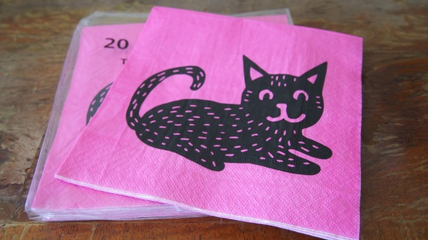 Tiger cat napkins