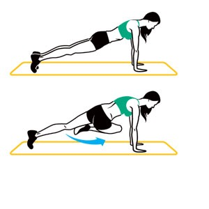 Cross body mountain climbers