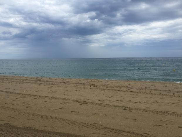 Rain during beach run
