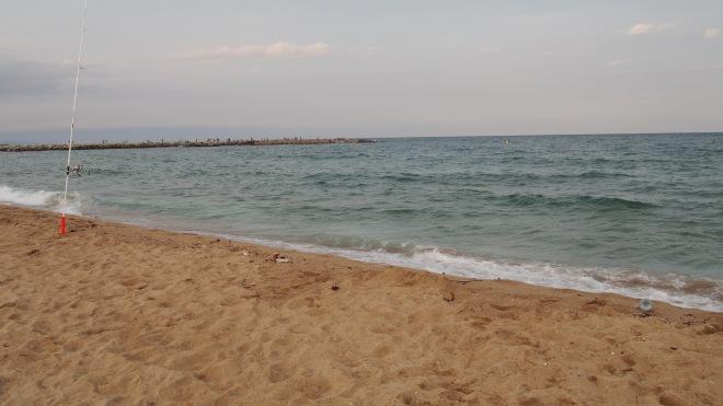 Post thunderstorm beach