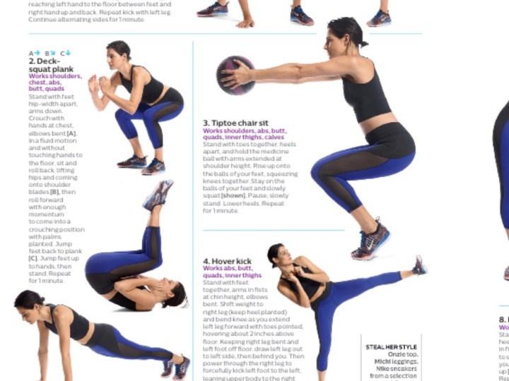 Shape Magazine Deck Plank Squat