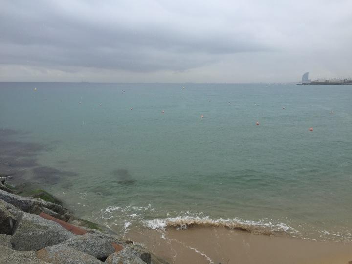Rainy beach run