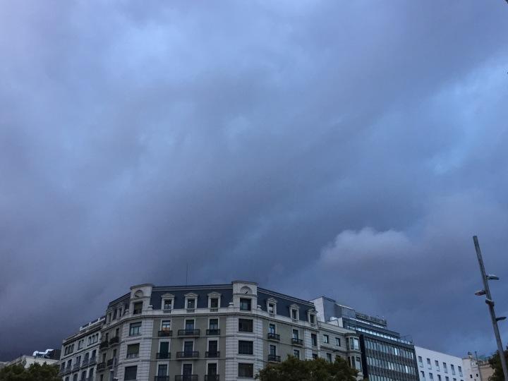Stormy skies, Barcelona