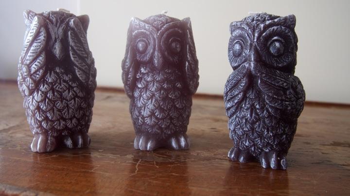 Zara Home See/Hear/Speak No Evil Owl Candles