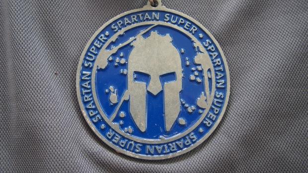 Spartan Super Finisher medal