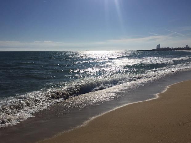 Beach run view
