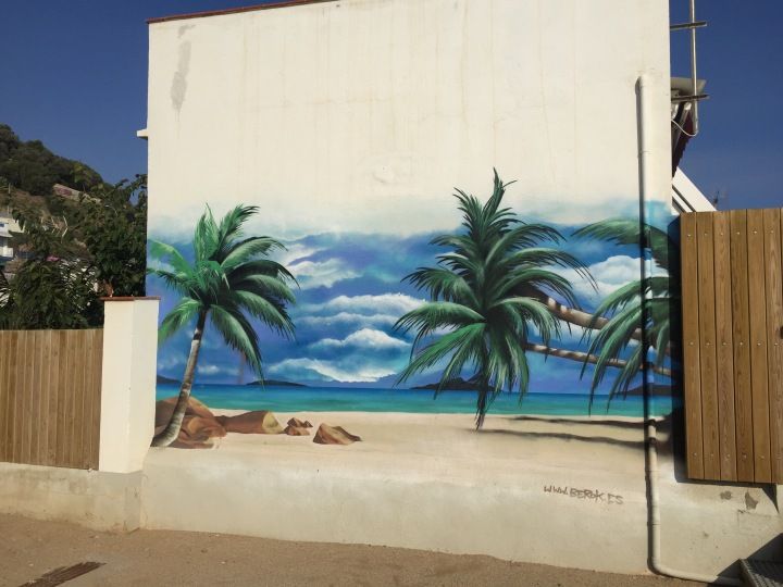 Beach graffiti