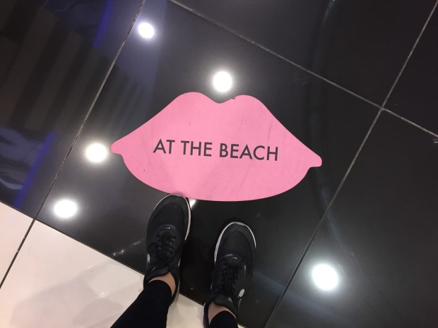At the beach, Sephora