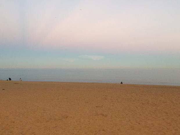 Reverse rainbow sunset