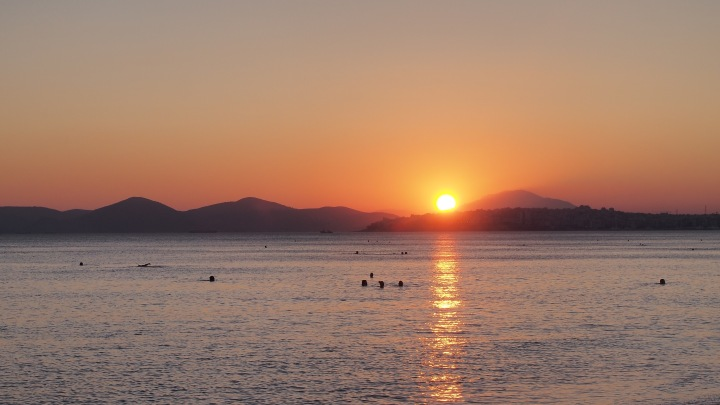 Sunset Aegean Sea