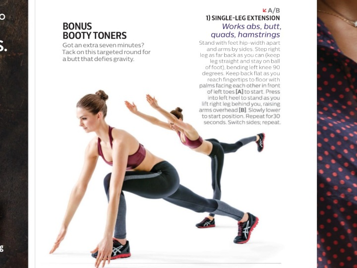 Shape Magazine Sept 2015, Single leg Extension
