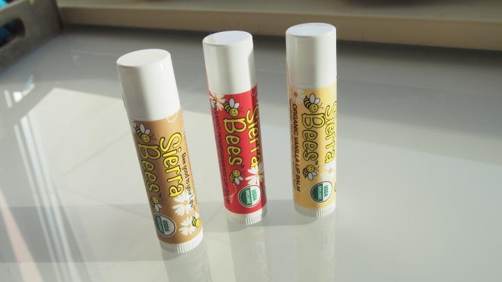 Sierra Bee's organic lip balms