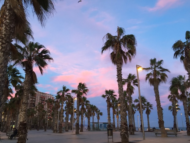 Barceloneta, Winter Sunet
