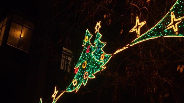 Christmas tree Christmas street lights
