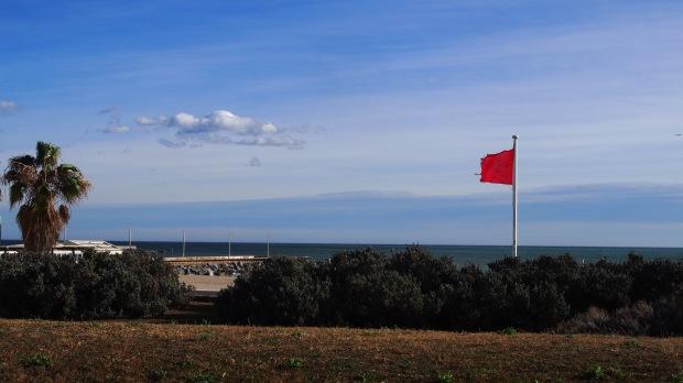 Windy day, Poblenou