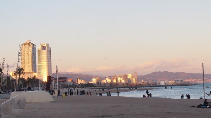 Winter Sunset Barceloneta, Barcelona