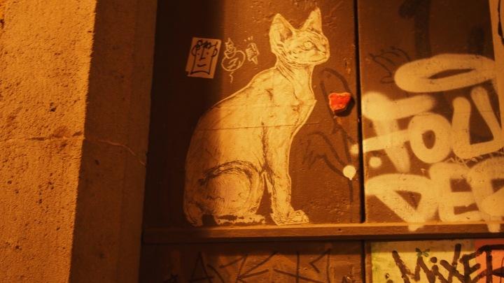 Cat stencil, El Borne
