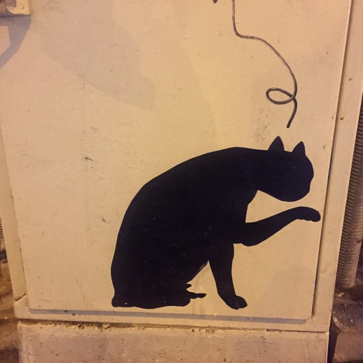 Black cat graffiti