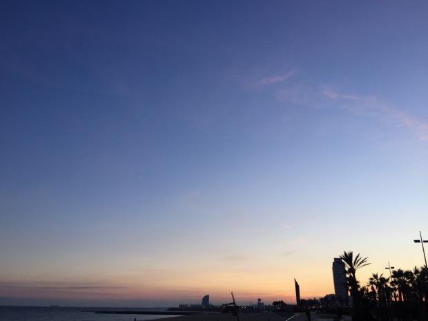 Winter Sunset Barcelona