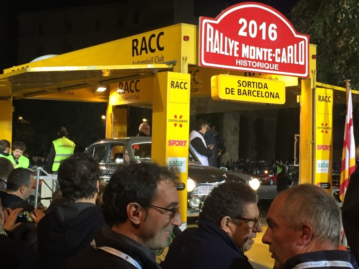 Start 2016 Barcelona to Monte Carlo Rally