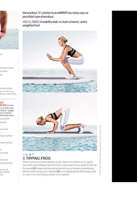 Tipping Frog/Monkey push up