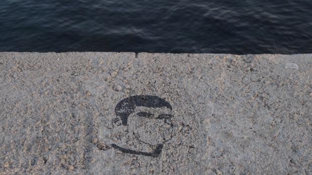 Toxic air stencil/graffiti, Barcelona