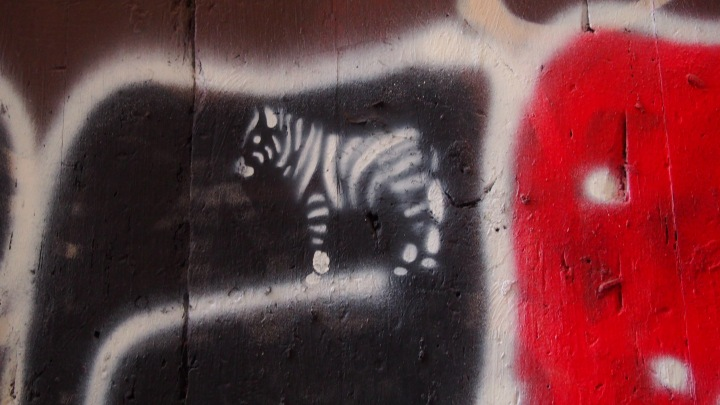 Zebra graffiti