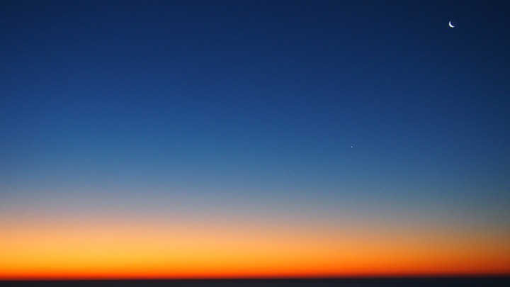 Dawn over Mediterranean Sea