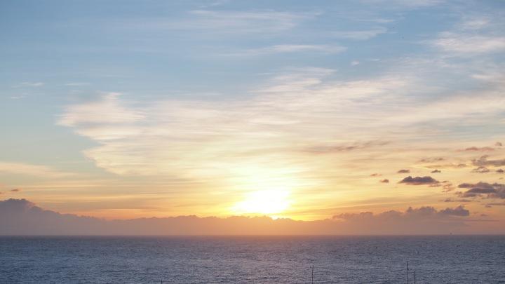 Sunrise over Med sea