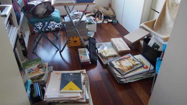 Arts and crafts cupboard to sort. KonMari Method