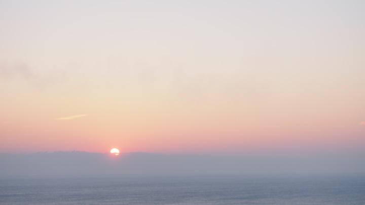 Foggy Sunrise over the sea
