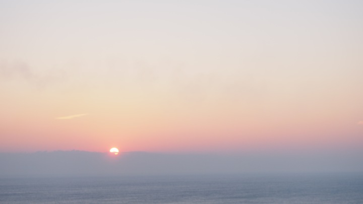 Foggy Sunrise over the sea