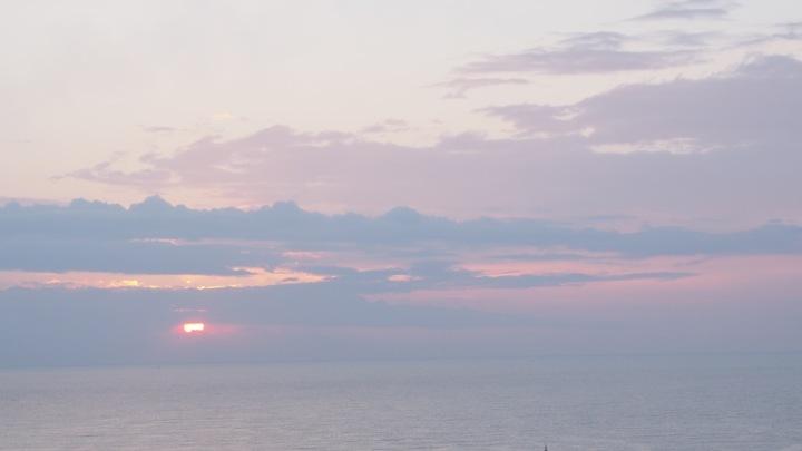 Sunrise over med