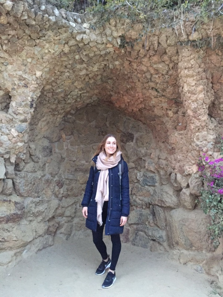 That blogger pose. Parc Guell.
